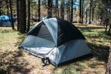 PahaQue Rendezvous 4 Person Dome Tent, Gray/Black