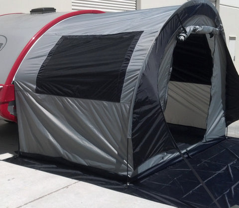 PahaQue T@B Trailer Side Tent - Silver/Black Trim