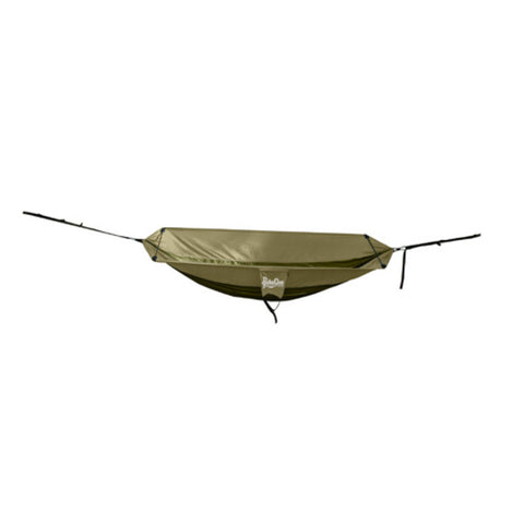 PahaQue Double Hammock in Olive and Khaki with Spreader Bar