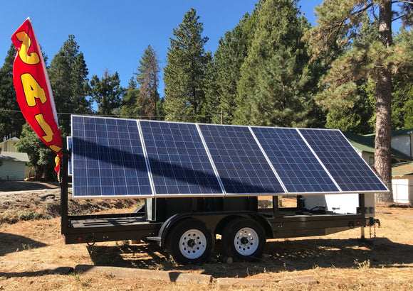 Mobile Solar Power Wagon™ Solar Only, No Lights (Model H)