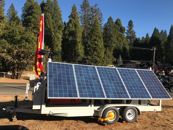 Mobile Solar Power Wagon™ Solar Hybrid Configuration with Lights (Model E)