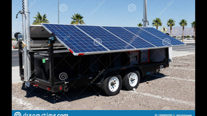 Mobile Solar Power Wagon™ Solar with Light Towers Configuration G