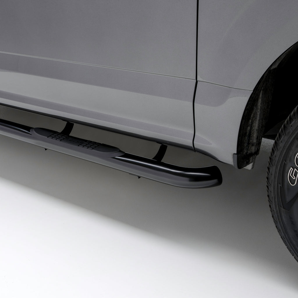"3"" Round Black Steel Side Bars, Select Toyota Tacoma 202009 Aries"