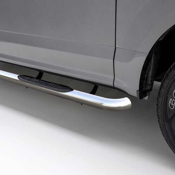 "3"" Round Polished Stainless Side Bars, Select Ford Ranger SuperCrew 203046-2 Aries"