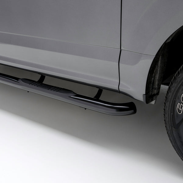 "3"" Round Black Steel Side Bars, Select Ford Ranger SuperCrew 203046 Aries"
