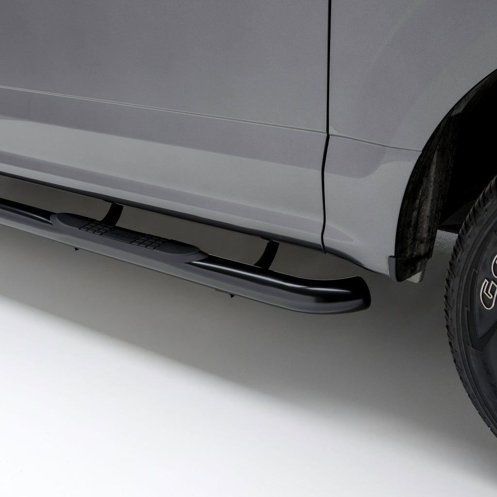 "3"" Round Black Steel Side Bars, Select Avalanche, Suburban, Yukon XL 204004 Aries"