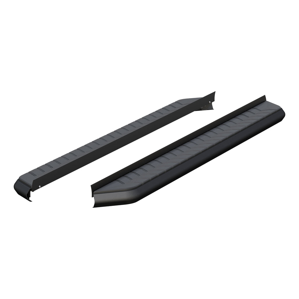 "AeroTread 5"" x 76"" Black Stainless Running Boards (No Brackets) 2051976 Aries"