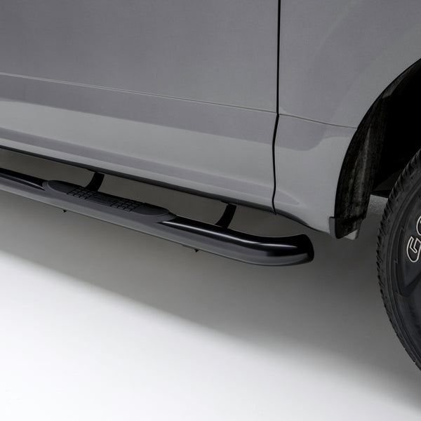"3"" Round Black Stainless Side Bars, Select Silverado, Sierra 1500, 2500, 3500 HD 214045 Aries"