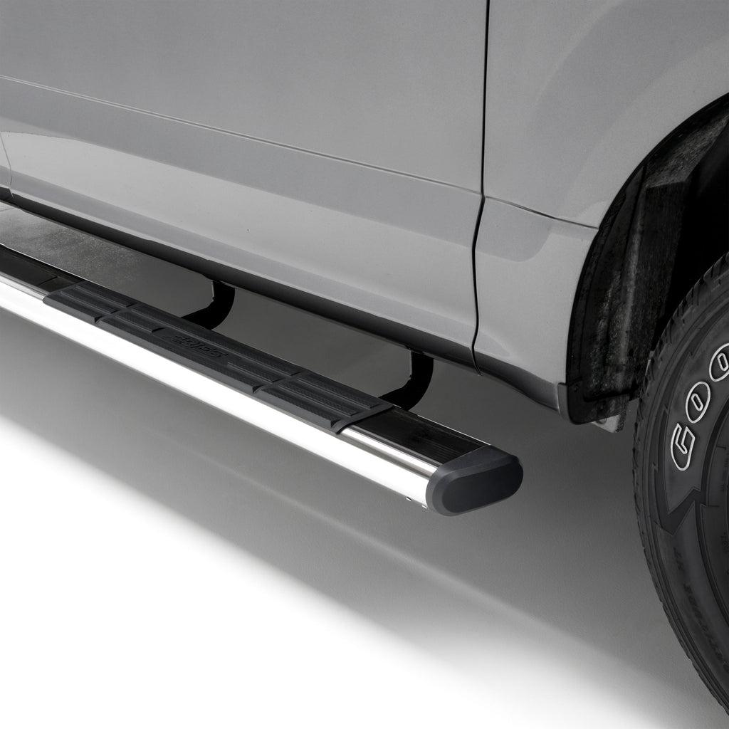 "6"" x 75"" Polished Stainless Oval Side Bars, Select Silverado, Sierra 4444001 Aries"