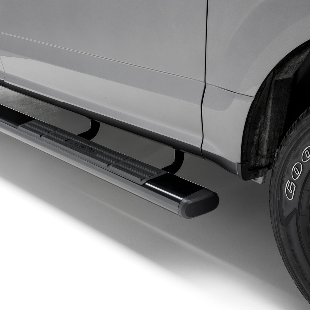 "6"" x 75"" Black Aluminum Oval Side Bars, Select Silverado, Tahoe, Sierra, Yukon 4445002 Aries"