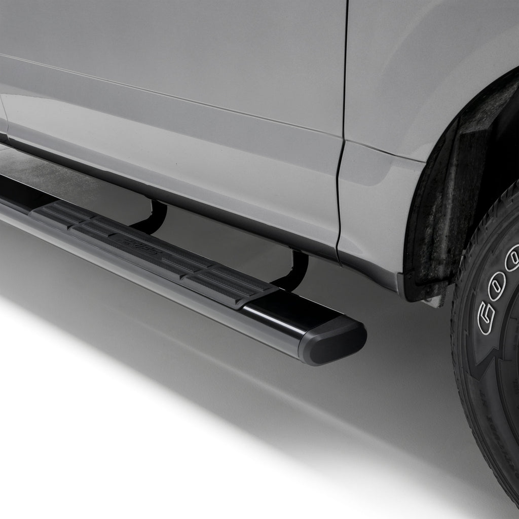 "6"" x 91"" Black Aluminum Oval Side Bars, Select Ford F-250, F-350, F-450, F-550 4445026 Aries"