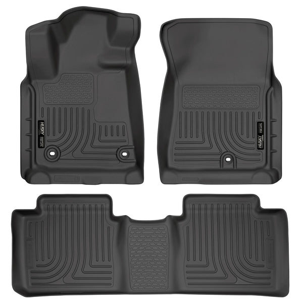 Front & 2nd Seat Floor Liners (Footwell Coverage) 99561 Husky