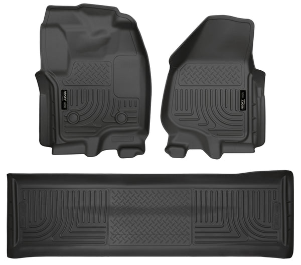 Front & 2nd Seat Floor Liners (Footwell Coverage) 99711 Husky