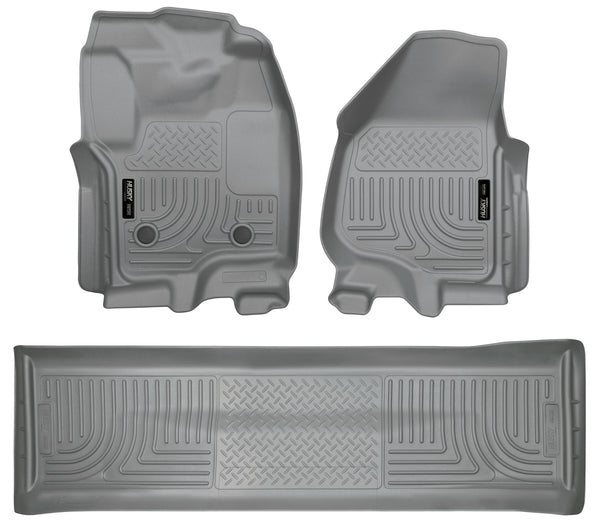 Front & 2nd Seat Floor Liners (Footwell Coverage) 99712 Husky