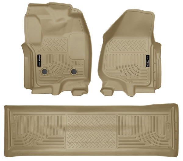 Front & 2nd Seat Floor Liners (Footwell Coverage) 99713 Husky
