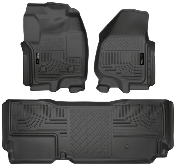 Front & 2nd Seat Floor Liners (Footwell Coverage) 99721 Husky