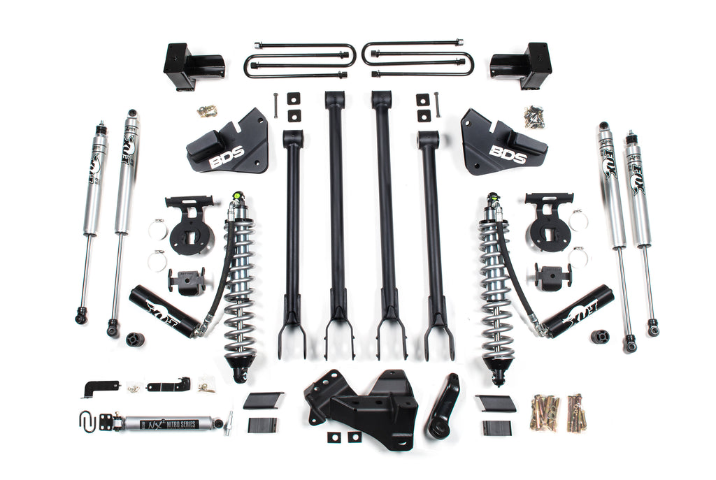 "BDS Suspension 4"" Coil-Over 4-Link Suspension System 2017-2019 Ford F250/F350 4WD Diesel Only 1537F"