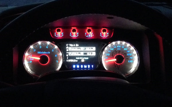 Waldoch Custom Instrument Gauge Cluster / Gauge Face for 09-14 F150