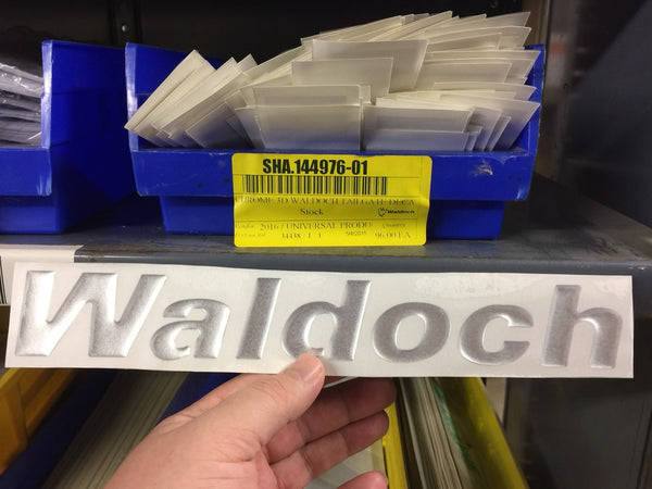 Waldoch Domed Logo Sticker for Truck Tailgate etc SHA.144976-01