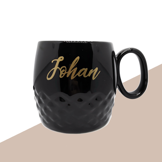 Black Mug with Personalised name
