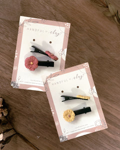 Flower Dome- #9 Hair Clips Bundle Pack