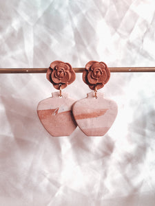 Pottery - #6 Big Matching Rose dangle