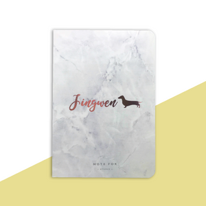 Customized White Marble Notebook