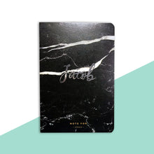 Personalised Black Marble Notebook