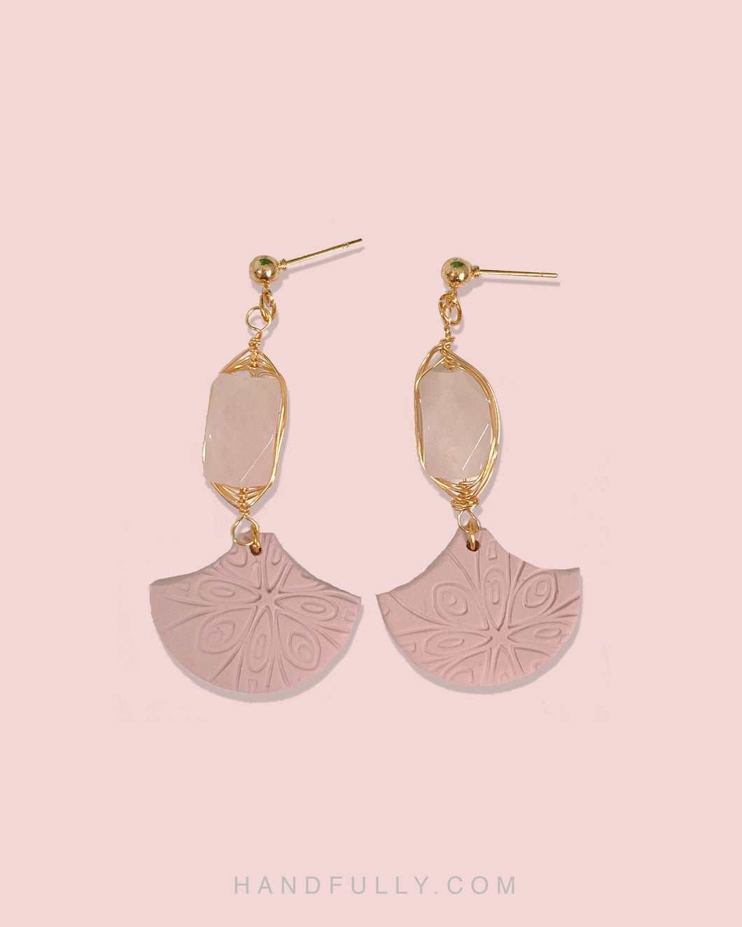 Crystal x Clay - #4 Pink Dangle