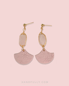Crystal x Clay - #4 Pink Dangle (backorder)