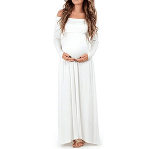 Elegant Off Shoulder Maxi Dress