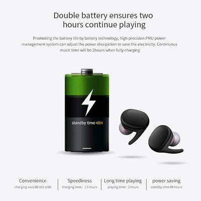 Wireless Bluetooth Waterproof Eearphone