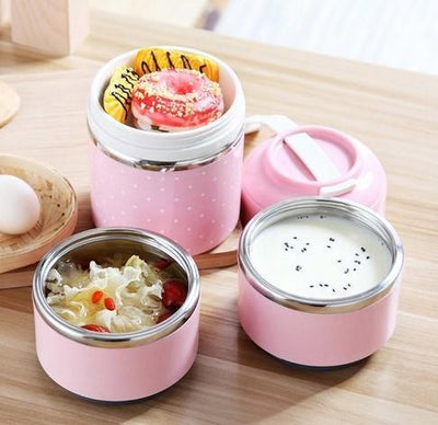 Premium Steel Layered Lunch Box Containers