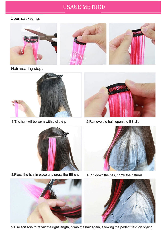 50cm Single Clip In Heat Resistant Hair Extensions Shoppers Nirvana