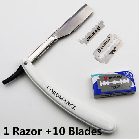 Straight Edge Razor (With 10pcs Blades)