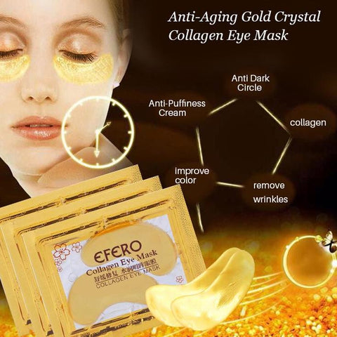 10Pcs 24K Eye Mask