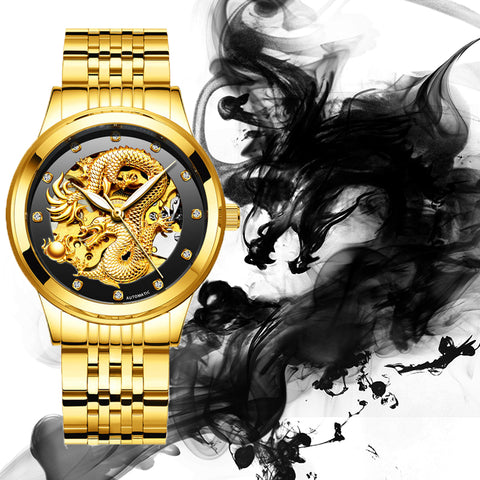 Luxury Dragon Automatic-Self-Wind Men's Watch