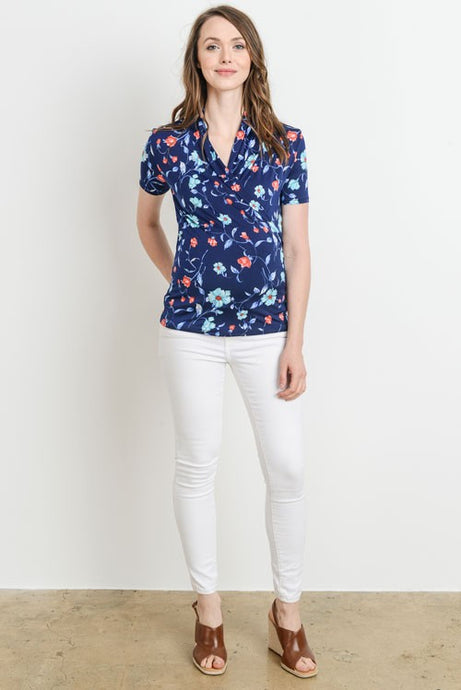 Floral Print Nursing Top