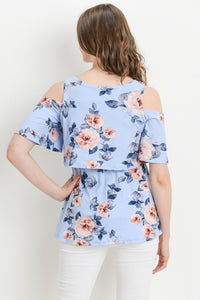 Floral Off the Shoulder Nursing Top
