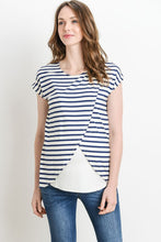Load image into Gallery viewer, Stripe Short Sleeve Nursing Top