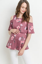 Load image into Gallery viewer, Floral Cold Shoulder Nursing Top