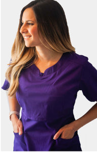 Hands Free Pumping Scrub Top