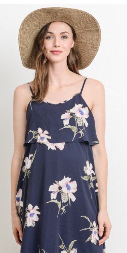 Floral Sleeveless Nursing Dress