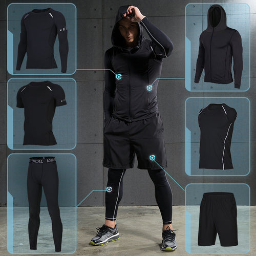 Men's Compression Sportswear Suits (6PC Set)