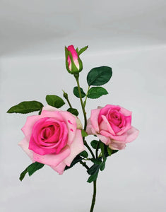 51-JM-FF05140, Artificial 3 Head Single Stem Roses ($46.80 for 12)