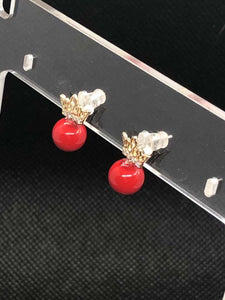 22-JM-JA05082, Red Balloon Earrings