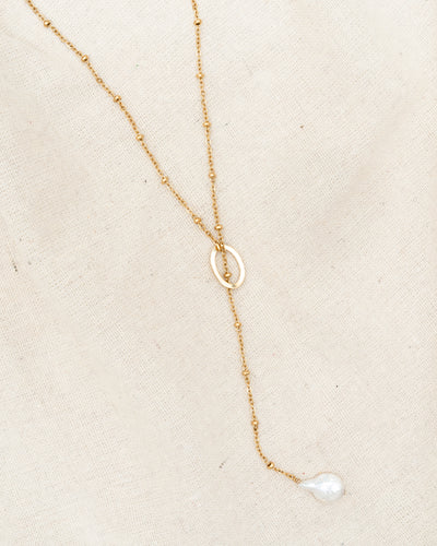 Hey Pearl Y Necklace - CELESTE SOL Jewelry