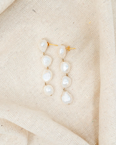Hey Pearl Drop Earrings - CELESTE SOL Jewelry