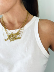 Libra Zodiac Nameplate Necklace - CELESTE SOL Jewelry