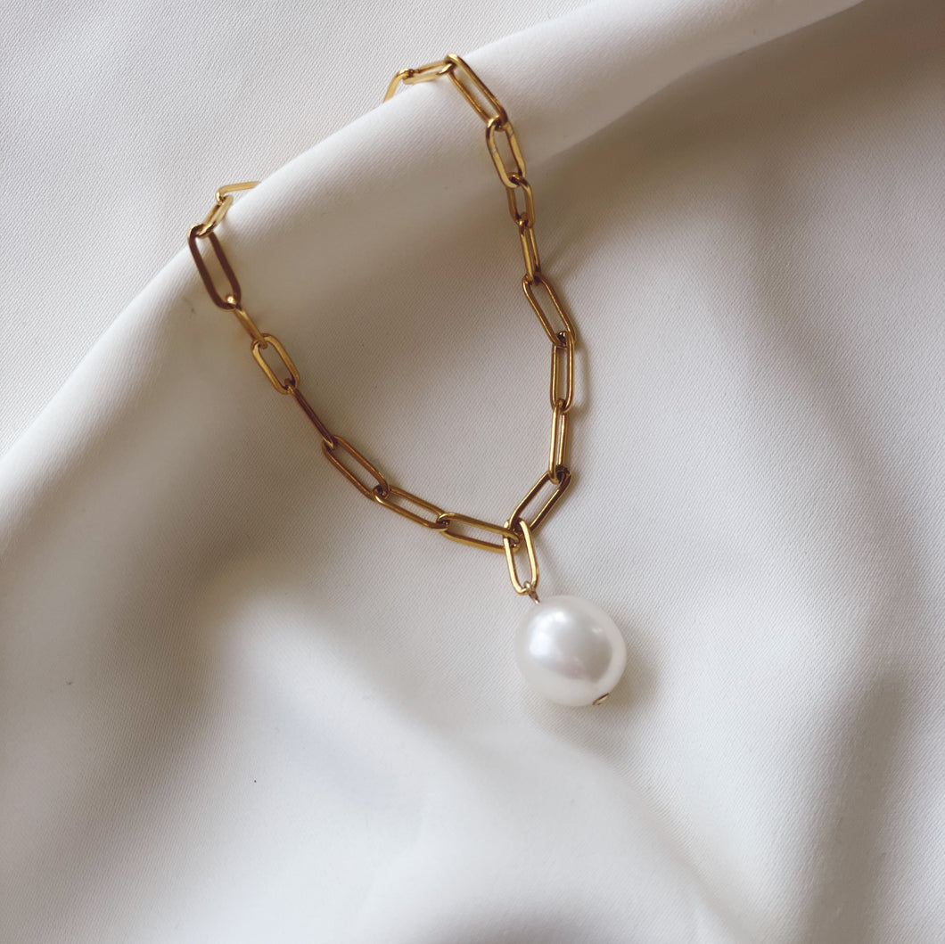 Tracey Upclycled Pearl Drop Bracelet - CELESTE SOL Jewelry